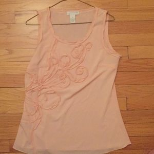 Light pink tank with floral design